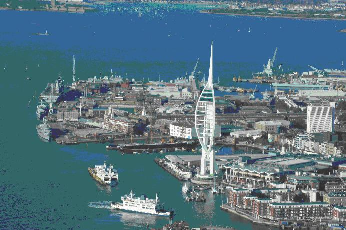 Photo of Portsmouth Gunwharf Quays and the Spinnaker tower