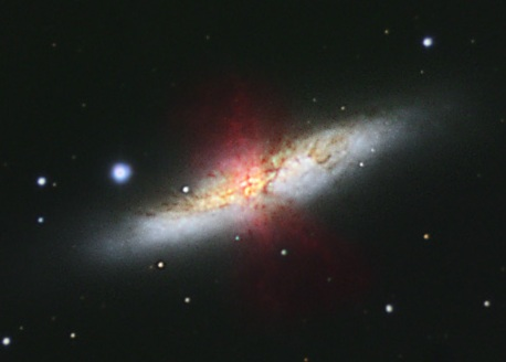 M82 by John Moore, Farnham Astronomical Society