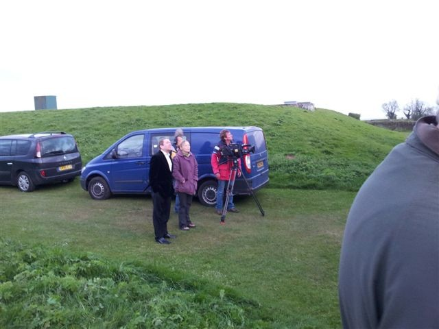 BBC Sky at Night filming at HAG - camera crew and Jon Culshaw