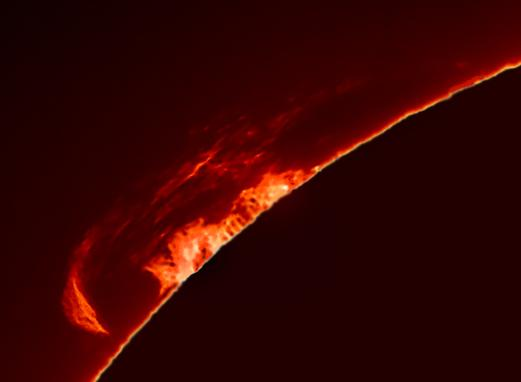 Image of a Solar Prominence captured by Robin Durant, Adur AS